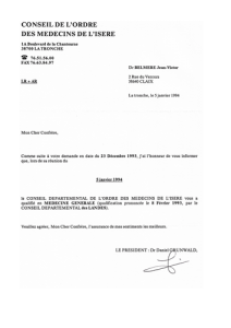 Docteur Jean-Victor Belmère qualification Médecine Générale