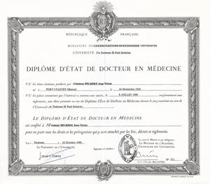 Doctorat en médecine